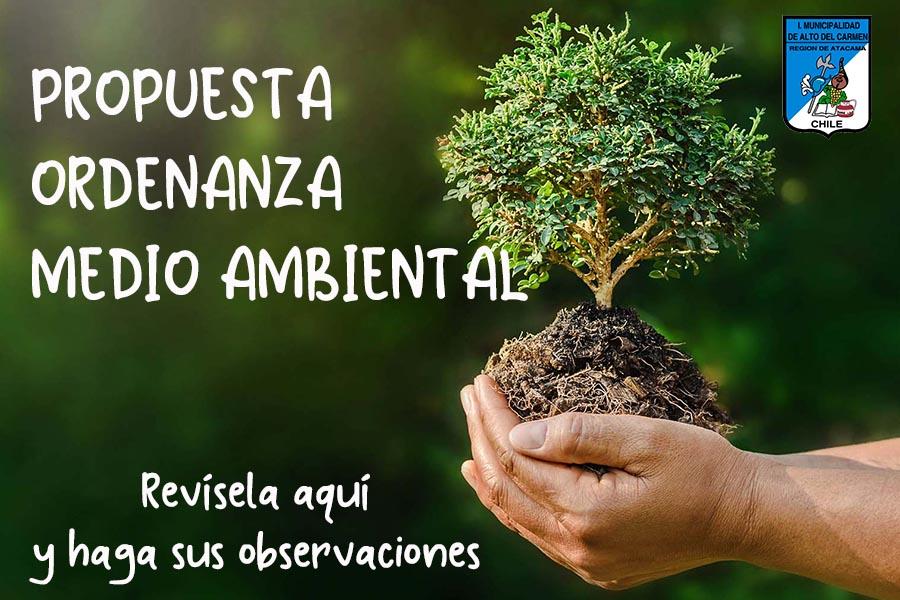 Participe en la construcción de la Ordenanza Medio Ambiental